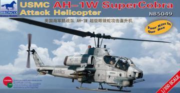 USMC AH-1W Super Cobra Attack Helicopter · BRON NB5049 ·  Bronco Models · 1:350