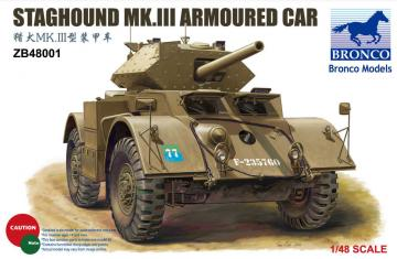 Staghound Mk.III Armoured Car · BRON ZB48001 ·  Bronco Models · 1:48