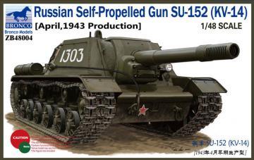 Russian Self-Propelled Gun SU-152 (KV-14 (April,1943 Production) · BRON ZB48004 ·  Bronco Models · 1:48