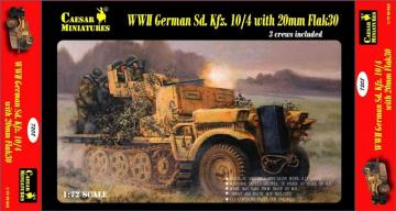 WWII German Sd.Kfz.10/4 w/20mm Flak 30 · CAE 7208 ·  Caesar Miniatures · 1:72