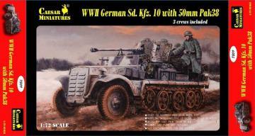 WWII German Sd.Kfz.10 with 50mm Pak 38 · CAE 7209 ·  Caesar Miniatures · 1:72