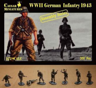 German Infantry 1943 · CAE CM7711 ·  Caesar Miniatures · 1:72