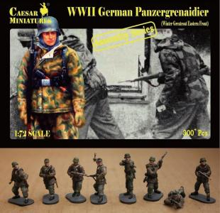 German Panzergrenaidier(Winter Greatcoat · CAE CM7714 ·  Caesar Miniatures · 1:72