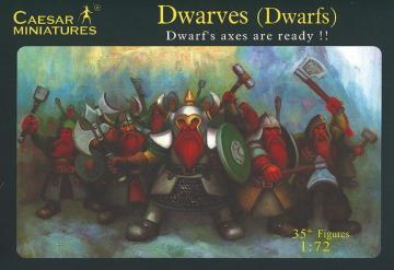 Dwarves (Dwarfs) Dwarf´s axes are ready!! · CAE F101 ·  Caesar Miniatures · 1:72