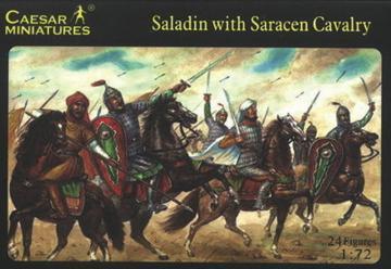 Saladin with Saracen Cavalry · CAE H018 ·  Caesar Miniatures · 1:72