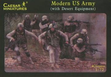 Modern US Army (with desert equipment) · CAE H030 ·  Caesar Miniatures · 1:72