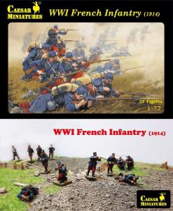 WWI French Infantry (1914) · CAE H034 ·  Caesar Miniatures · 1:72