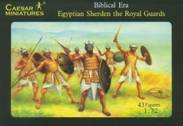 Egyptian Sherden the Royal Guard · CAE H050 ·  Caesar Miniatures · 1:72