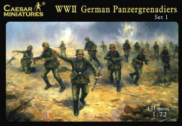 WWII German Panzergrenadiers Set 1 · CAE H052 ·  Caesar Miniatures · 1:72