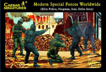 Modern Special Forces (Elite Police, Frogman, Seal, Delta Force) · CAE H061 ·  Caesar Miniatures · 1:72