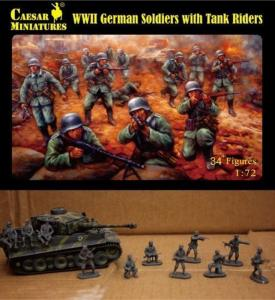 WWII German Soldiers with Tank Riders · CAE H077 ·  Caesar Miniatures · 1:72