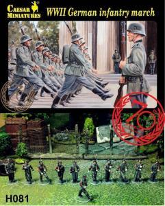 WWII German Infantry Marching · CAE H081 ·  Caesar Miniatures · 1:72