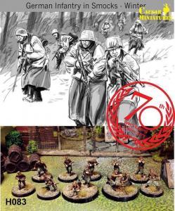 WWII German Infantry in Smocks-Winter · CAE H083 ·  Caesar Miniatures · 1:72