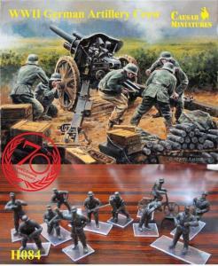 WWII German Artillery Howitzer Crew · CAE H084 ·  Caesar Miniatures · 1:72