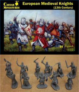 European Medieval Knights, 13th Century · CAE H087 ·  Caesar Miniatures · 1:72