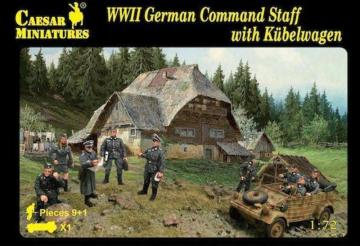 WWII German Command Staff with Kübelwagen · CAE H095 ·  Caesar Miniatures · 1:72
