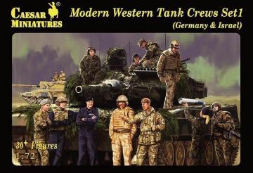 Modern Western Tank Crews - Set 1 · CAE H102 ·  Caesar Miniatures · 1:72