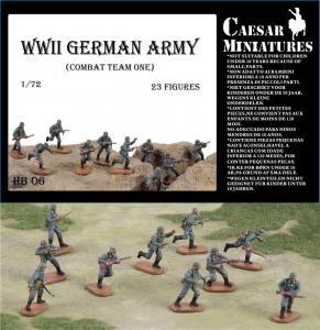 WWII Germans Army (combat team one) · CAE HB06 ·  Caesar Miniatures · 1:72