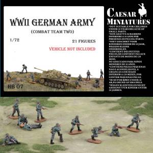 WWII Germans Army (combat team two) · CAE HB07 ·  Caesar Miniatures · 1:72