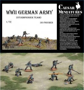 WWII Germans Army (Sturmpionier Team) · CAE HB08 ·  Caesar Miniatures · 1:72