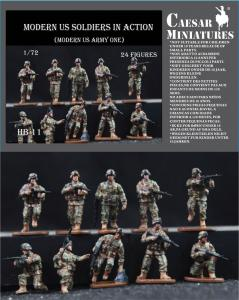 Moders US Soldiers in Action · CAE HB11 ·  Caesar Miniatures · 1:72