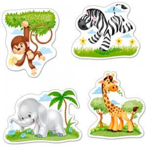 African Animals - 4x Puzzle 3+4+6+9 Teile · CAS 005017 ·  Castorland