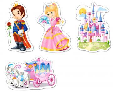World of Princesses - 4xPuzzle - 3+4+6+9 Teile · CAS 005031 ·  Castorland