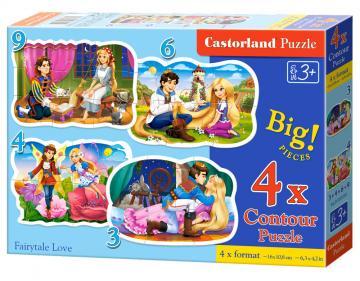 Fairytale Love - Puzzle - 3+4+6+9 Teile · CAS 005093 ·  Castorland