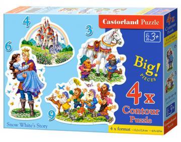 Snow White´s Story - Puzzle - 3+4+6+9 Teile · CAS 005109 ·  Castorland
