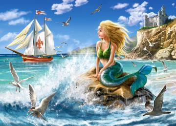 Little Mermaid, Puzzle 108 Teile · CAS 010103 ·  Castorland