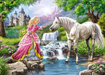 Little Lady and her Horse, Puzzle 108 Te · CAS 010158 ·  Castorland