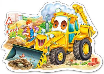 A Smiling Digger, Puzzle 15 Teile · CAS 015047 ·  Castorland