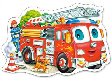 Fire Engine, Puzzle 15 Teile · CAS 015078 ·  Castorland