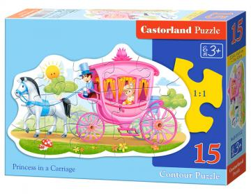 Princess in a Carriage, Puzzle 15 Teile · CAS 015122 ·  Castorland