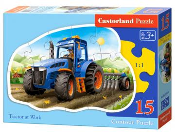 Tractor at Work - Puzzle - 15 Teile · CAS 015184 ·  Castorland