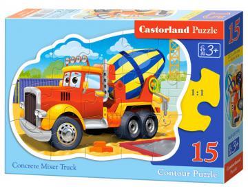 Concrete Mixer Truck - Puzzle - 15 Teile · CAS 015191 ·  Castorland