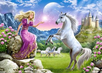 My Friend Unicorn,Puzzle 180 Teile · CAS 018024 ·  Castorland