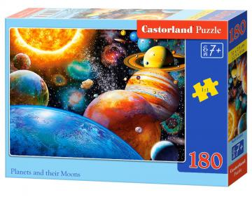 Planets and their Moons - Puzzle - 180 Teile · CAS 018345 ·  Castorland