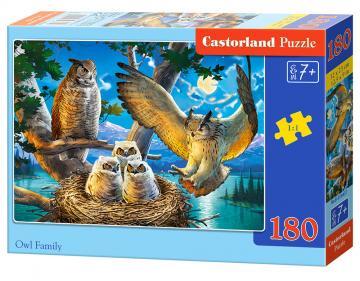 Owl Family - Puzzle - 180 Teile · CAS 018437 ·  Castorland