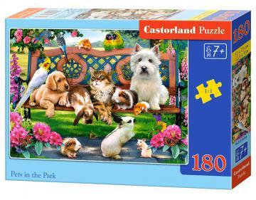 Pets in the Park - Puzzle - 180 Teile · CAS 018444 ·  Castorland