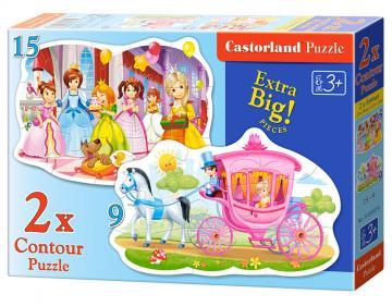 The Princess Ball, 2xPuzzle (9+15)Teile · CAS 020034 ·  Castorland