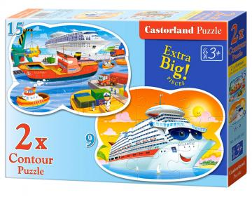 Sea Adventures, 2 x Puzzle (9+15) Teile · CAS 020102 ·  Castorland