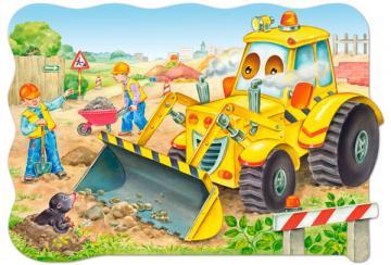 Bulldozer in action,Puzzle 20 Teile maxi · CAS 021391 ·  Castorland