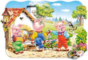 Three Little Pigs,Puzzle 20 Teile maxi · CAS 02184 ·  Castorland
