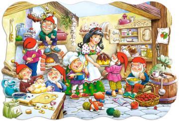 Snow White a.Seven Dwarfs,Puzzle 20 Teil · CAS 022071 ·  Castorland