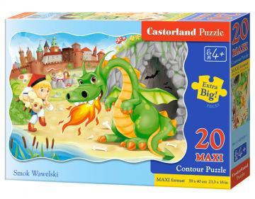 Wawel-Drachen, Puzzle 20 Teile maxi · CAS 02269 ·  Castorland