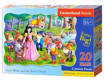 Snow White and the Seven Dwarfs - Puzzle - 20 Teile maxi · CAS 023201 ·  Castorland