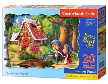 Hansel and Gretel - Puzzle - 20 Teile maxi · CAS 023681 ·  Castorland