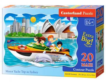 Motor Yacht Trip in Sydney,Puzzle 20Teil maxi · CAS 023751 ·  Castorland