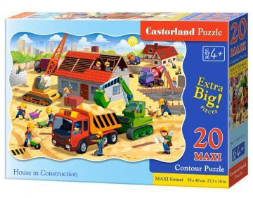 House in Construction - Puzzle - 20 Teile Maxi · CAS 024121 ·  Castorland